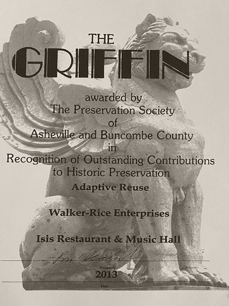 Griffin Award - The Preservation Society